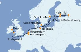 Itinéraire de la croisière Mer Baltique 15 jours à bord du Seven Seas Navigator