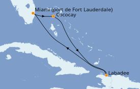 Itinéraire de la croisière Bahamas 6 jours à bord du Independence of the Seas