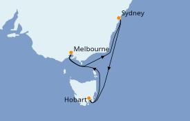Itinéraire de la croisière Australie 2020 7 jours à bord du Voyager of the Seas