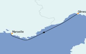 Itinerario de crucero Mediterráneo 2 días a bordo del MSC Musica
