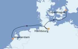 Itinéraire de la croisière Mer Baltique 6 jours à bord du Silver Spirit