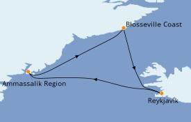 Itinéraire de la croisière Exploration polaire 11 jours à bord du Le Commandant Charcot