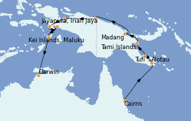Itinéraire de la croisière Australie 2022 17 jours à bord du Le Lapérouse