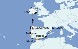 Itinéraire de la croisière Méditerranée 11 jours à bord du Azamara Journey