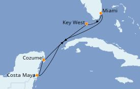 Itinéraire de la croisière Caraïbes de l'Ouest 7 jours à bord du Empress of the Seas