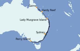 Itinerario de crucero Australia 2022 10 días a bordo del Le Lapérouse