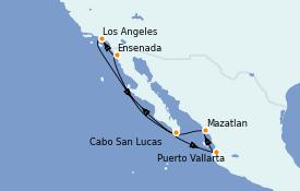 Itinéraire de la croisière Riviera Mexicaine 8 jours à bord du Norwegian Joy
