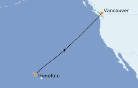 Itinéraire de la croisière Alaska 9 jours à bord du Le Soléal