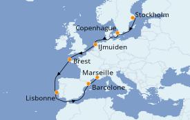 Itinéraire de la croisière Méditerranée 12 jours à bord du Costa Magica