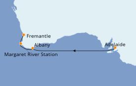 Itinéraire de la croisière Australie 2020 6 jours à bord du Sea Princess