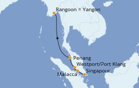 Itinéraire de la croisière Asie 10 jours à bord du Le Lapérouse