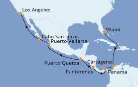 Itinéraire de la croisière Riviera Mexicaine 18 jours à bord du Azamara Journey