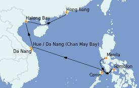 Itinerario de crucero Asia 12 días a bordo del Silver Spirit