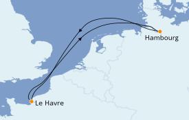 Itinéraire de la croisière Atlantique 5 jours à bord du MSC Preziosa