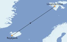Itinéraire de la croisière Exploration polaire 16 jours à bord du Le Commandant Charcot