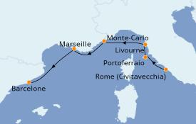 Itinéraire de la croisière Méditerranée 9 jours à bord du Azamara Quest