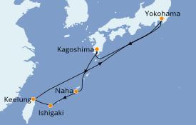 Itinéraire de la croisière Asie 10 jours à bord du MSC Bellissima