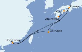 Itinéraire de la croisière Asie 10 jours à bord du Spectrum of the Seas