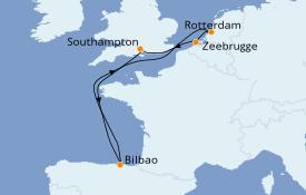 Itinéraire de la croisière Mer Baltique 8 jours à bord du Anthem of the Seas