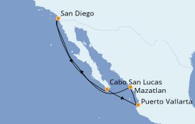 Itinéraire de la croisière Riviera Mexicaine 8 jours à bord du Norwegian Jewel