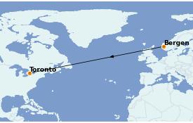 Itinéraire de la croisière Fjords & Norvège 14 jours à bord du Le Dumont d'Urville
