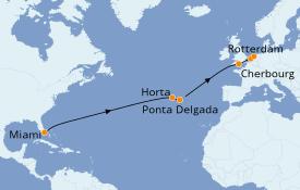 Itinéraire de la croisière Îles Canaries 16 jours à bord du Seabourn Quest