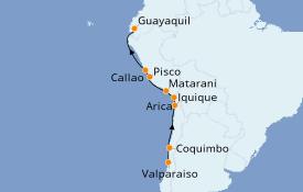 Itinéraire de la croisière Amérique du Sud 13 jours à bord du Le Boréal