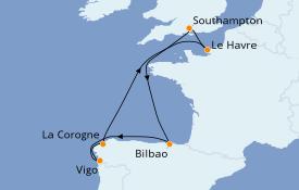 Itinéraire de la croisière Méditerranée 9 jours à bord du Celebrity Silhouette