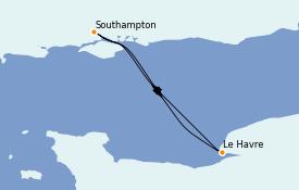 Itinéraire de la croisière Îles Britanniques 3 jours à bord du Anthem of the Seas