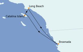 Itinéraire de la croisière Californie 5 jours à bord du Carnival Miracle