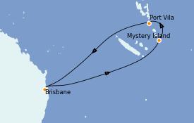 Itinéraire de la croisière Australie 2021 9 jours à bord du Quantum of the Seas
