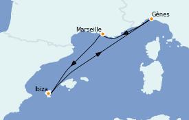 Itinerario de crucero Mediterráneo 5 días a bordo del MSC Musica