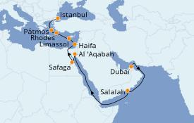 Itinéraire de la croisière Grèce & Adriatique 21 jours à bord du Seven Seas Mariner
