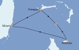 Itinéraire de la croisière Bahamas 5 jours à bord du Norwegian Joy