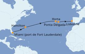 Itinéraire de la croisière Îles Canaries 15 jours à bord du Silver Dawn