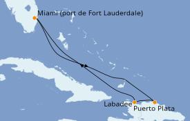Itinéraire de la croisière Caraïbes de l'Est 6 jours à bord du Allure of the Seas