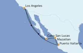 Itinéraire de la croisière Riviera Mexicaine 8 jours à bord du Norwegian Bliss