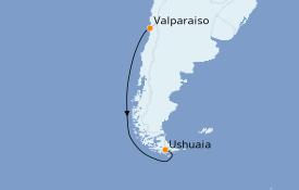 Itinéraire de la croisière Amérique du Sud 5 jours à bord du Le Soléal