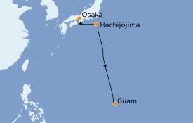 Itinéraire de la croisière Asie 10 jours à bord du Le Soléal