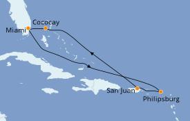 Itinéraire de la croisière Caraïbes de l'Est 8 jours à bord du Allure of the Seas