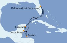 Itinéraire de la croisière Caraïbes de l'Ouest 7 jours à bord du Harmony of the Seas
