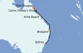 Itinerario de crucero Australia 2022 11 días a bordo del Royal Princess