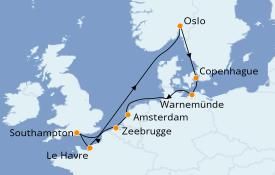 Itinéraire de la croisière Mer Baltique 11 jours à bord du Celebrity Apex