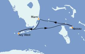 Itinéraire de la croisière Bahamas 4 jours à bord du Celebrity Summit