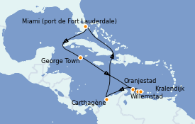 Itinéraire de la croisière Caraïbes de l'Est 12 jours à bord du Celebrity Silhouette