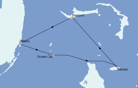 Itinéraire de la croisière Bahamas 7 jours à bord du MSC Armonia