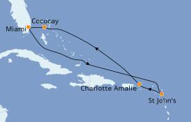 Itinéraire de la croisière Caraïbes de l'Est 8 jours à bord du Symphony of the Seas