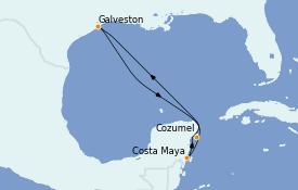 Itinéraire de la croisière Caraïbes de l'Ouest 6 jours à bord du Grandeur of the Seas