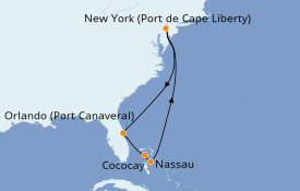 Itinéraire de la croisière Bahamas 8 jours à bord du Anthem of the Seas