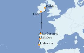 Itinéraire de la croisière Méditerranée 8 jours à bord du Le Dumont d'Urville